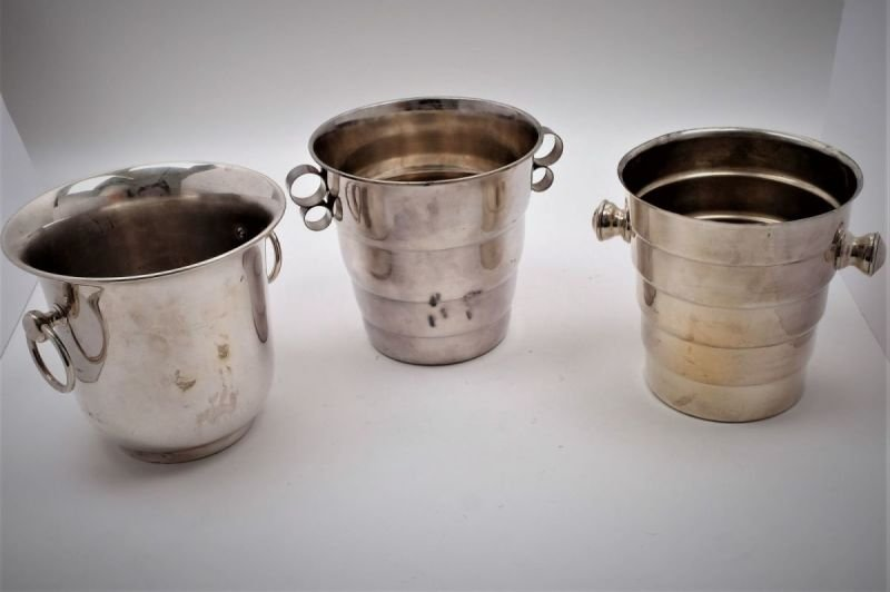 Silver plated champagne buckets