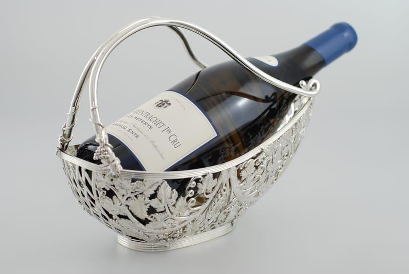 Bespoke silver wine cradle