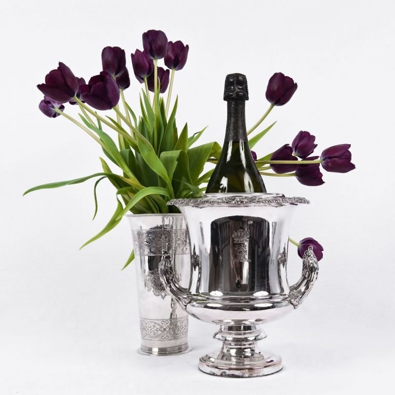 Antique silver champagne coolers