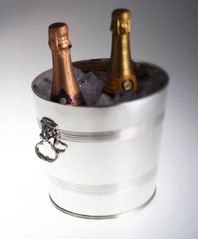 Silver-plated champagne cooler