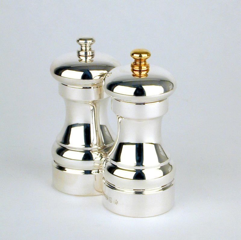 Silver capstan salt & pepper grinders