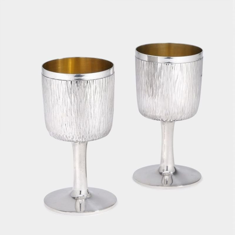 Mid-century silver goblets