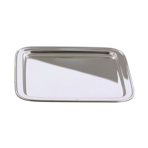 Silver drinks tray