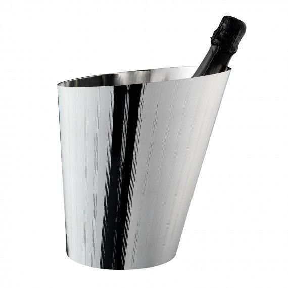 Silver wine or champagne cooler
