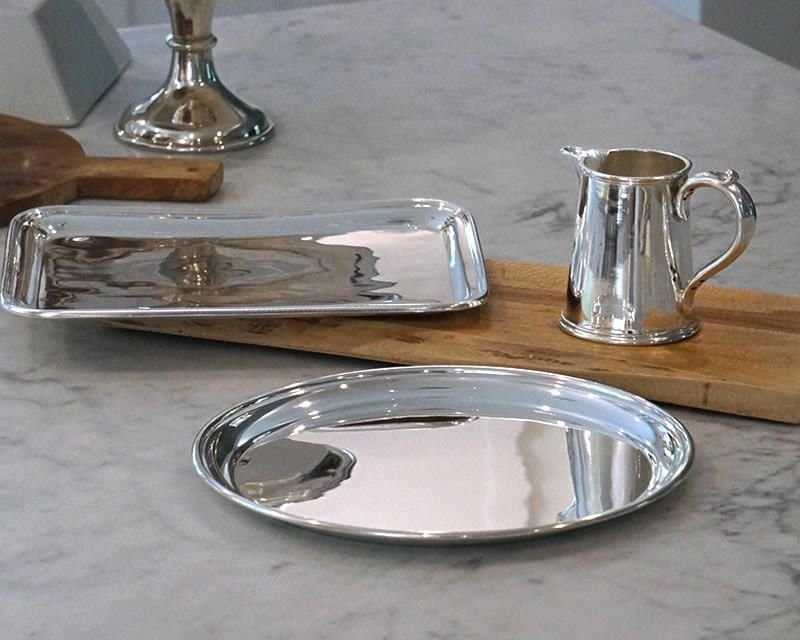 Silver-plated drinks trays