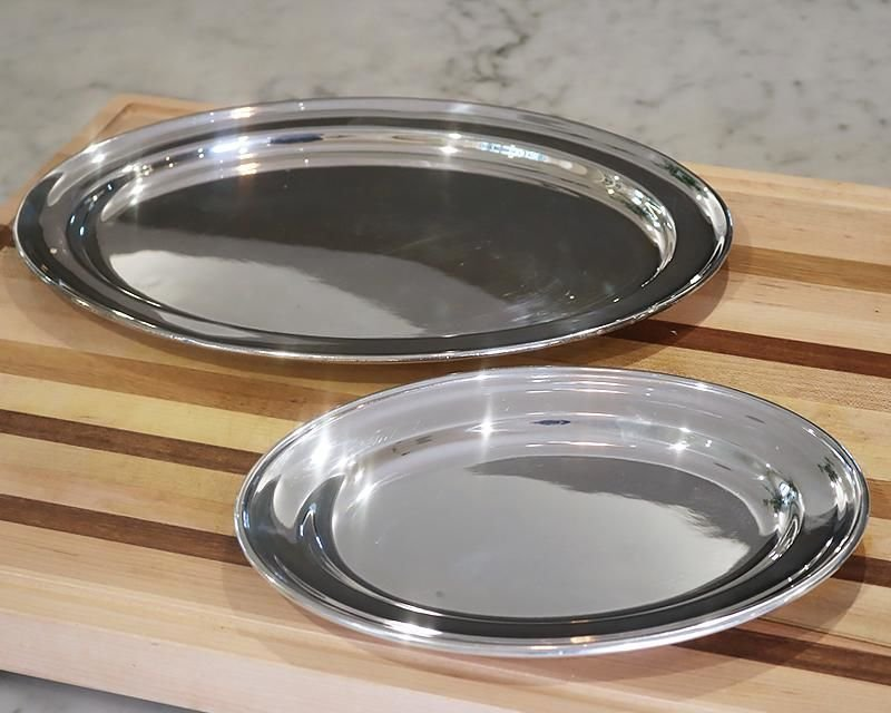 Silver-plated serving trays