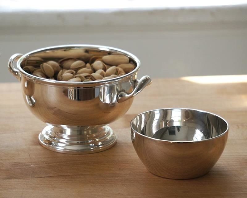 Silver-plated bowls