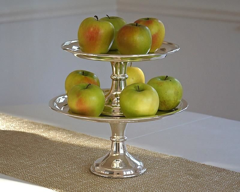 Silver-plated dessert stands