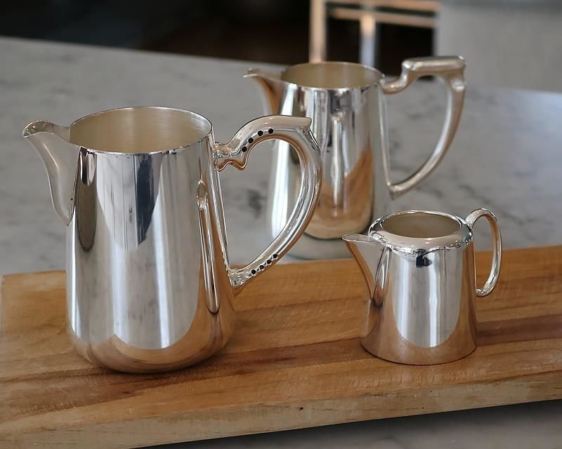 Silver plated milk & cream jugs