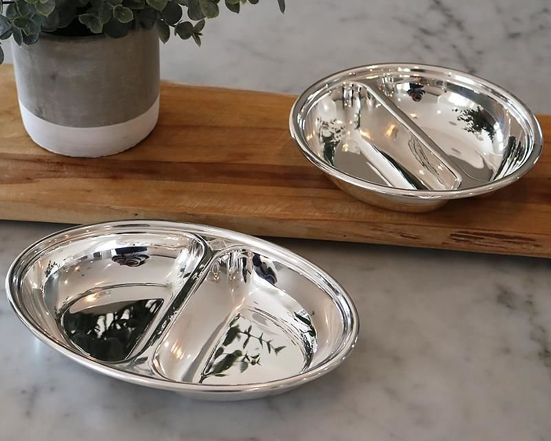 Silver-plated entrée dish