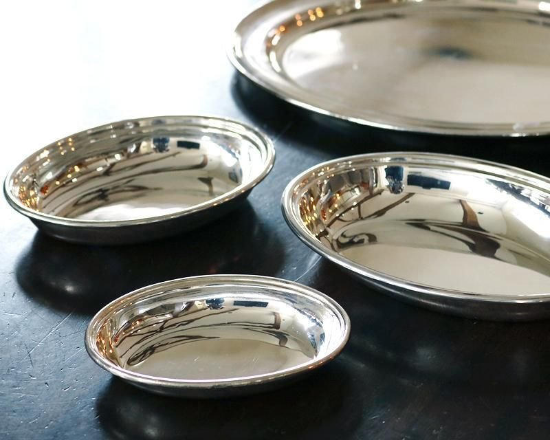 Silver-plated entrée dishes