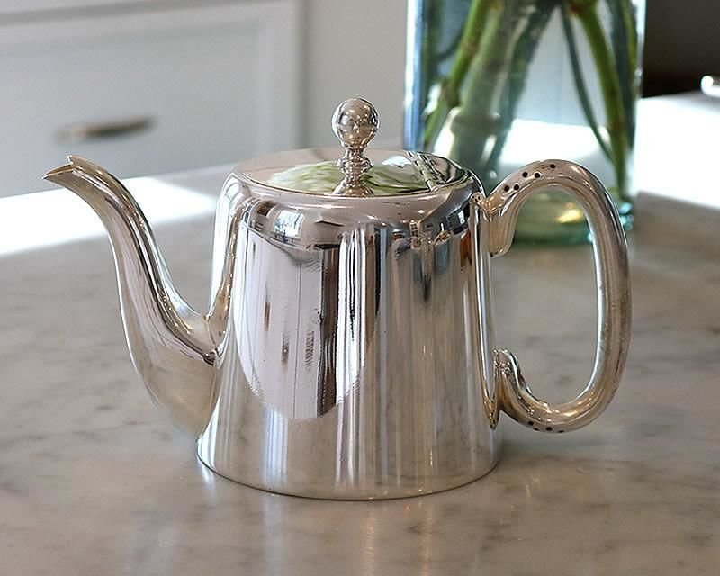 Silver-plated hotel teapot