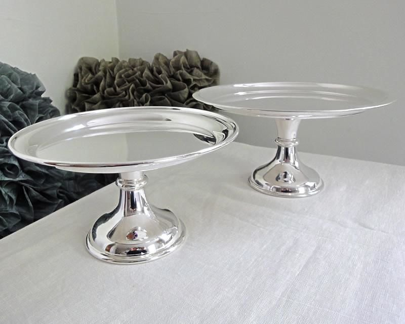 Silver-plated cake stands