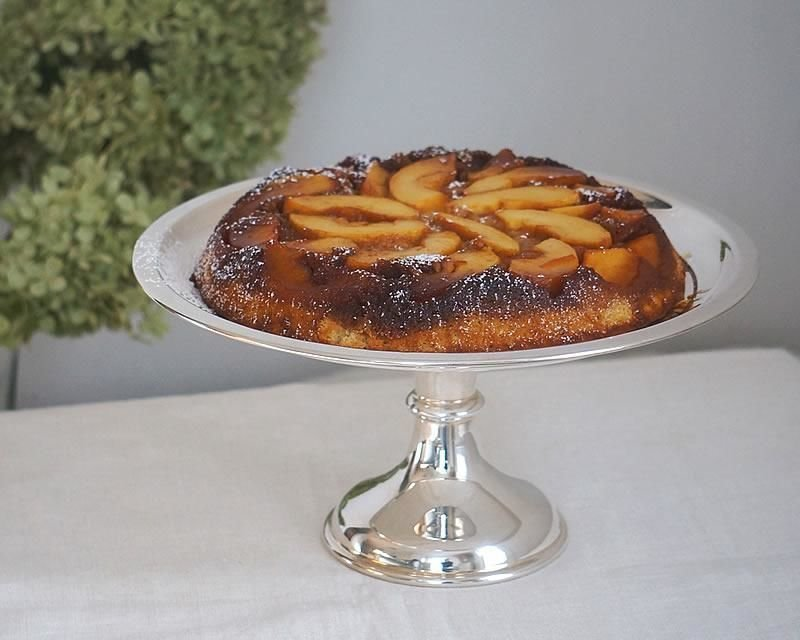 Silver-plated dessert stand