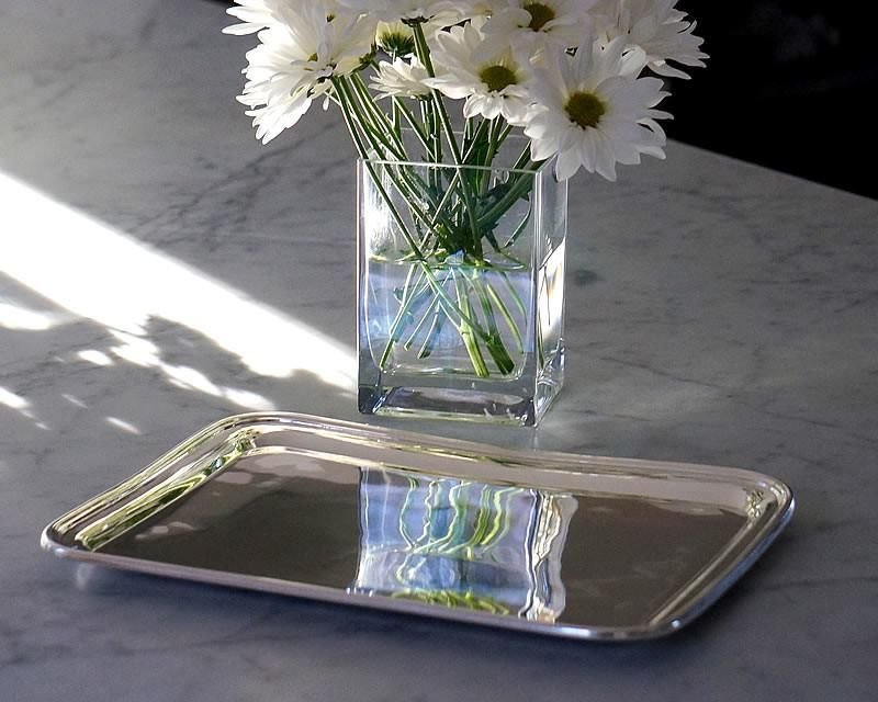 Silver plated tea tray