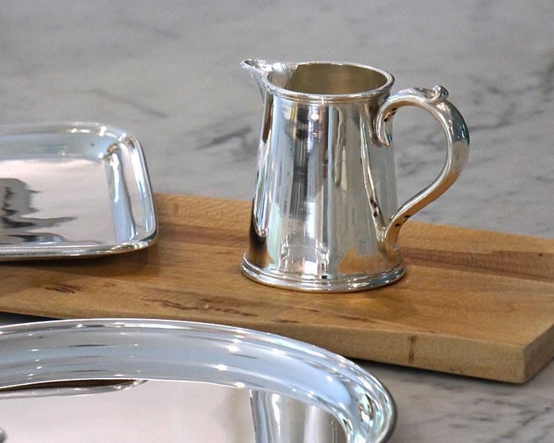 Silver-plated cream or milk jug