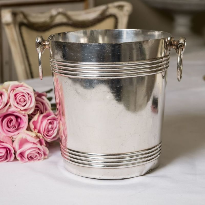 Silver-plated ice bucket