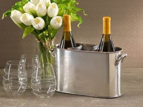 Silver-plated wine cooler