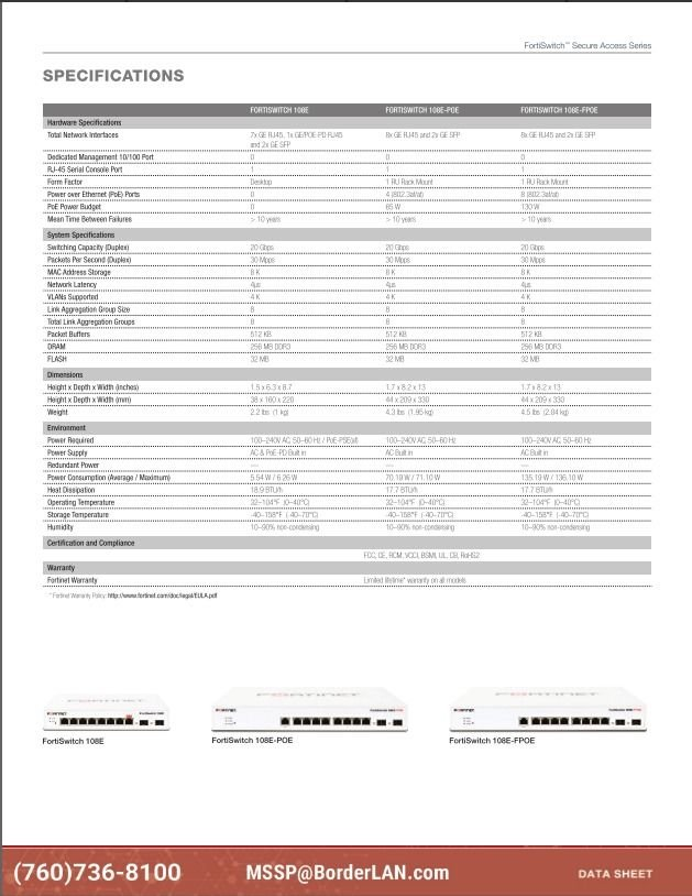 FortiSwitch 248E-FPOE - (760)736-8100