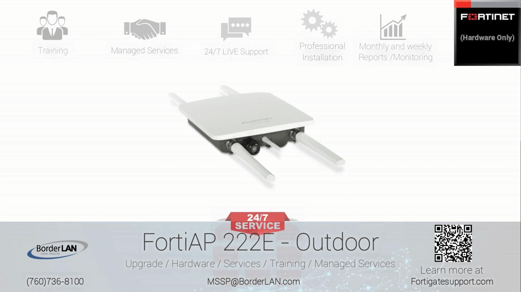 FortiAP 222E - Outdoor - (760)736-8100