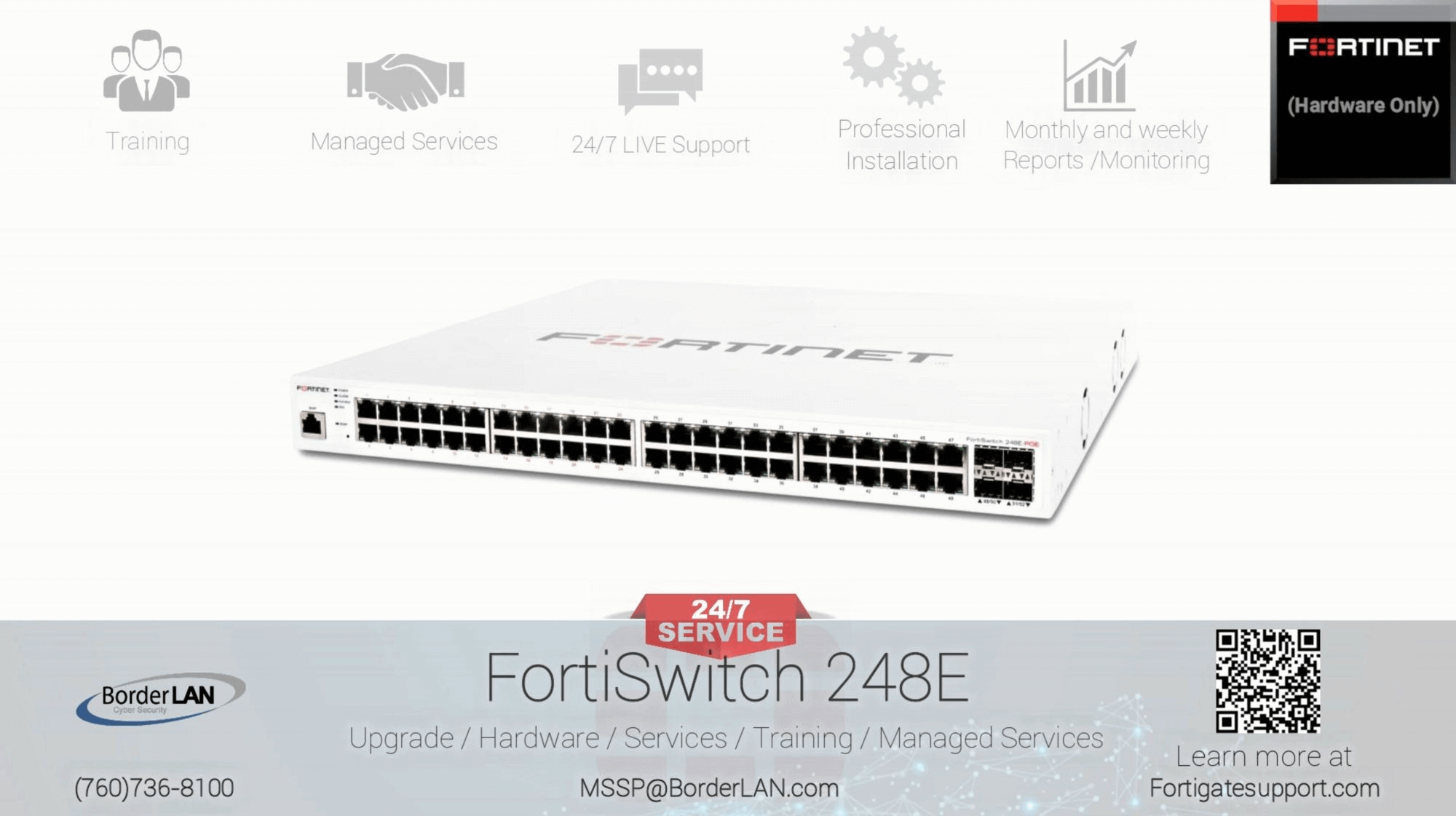 FortiSwitch 248E - POE - (760)736-8100