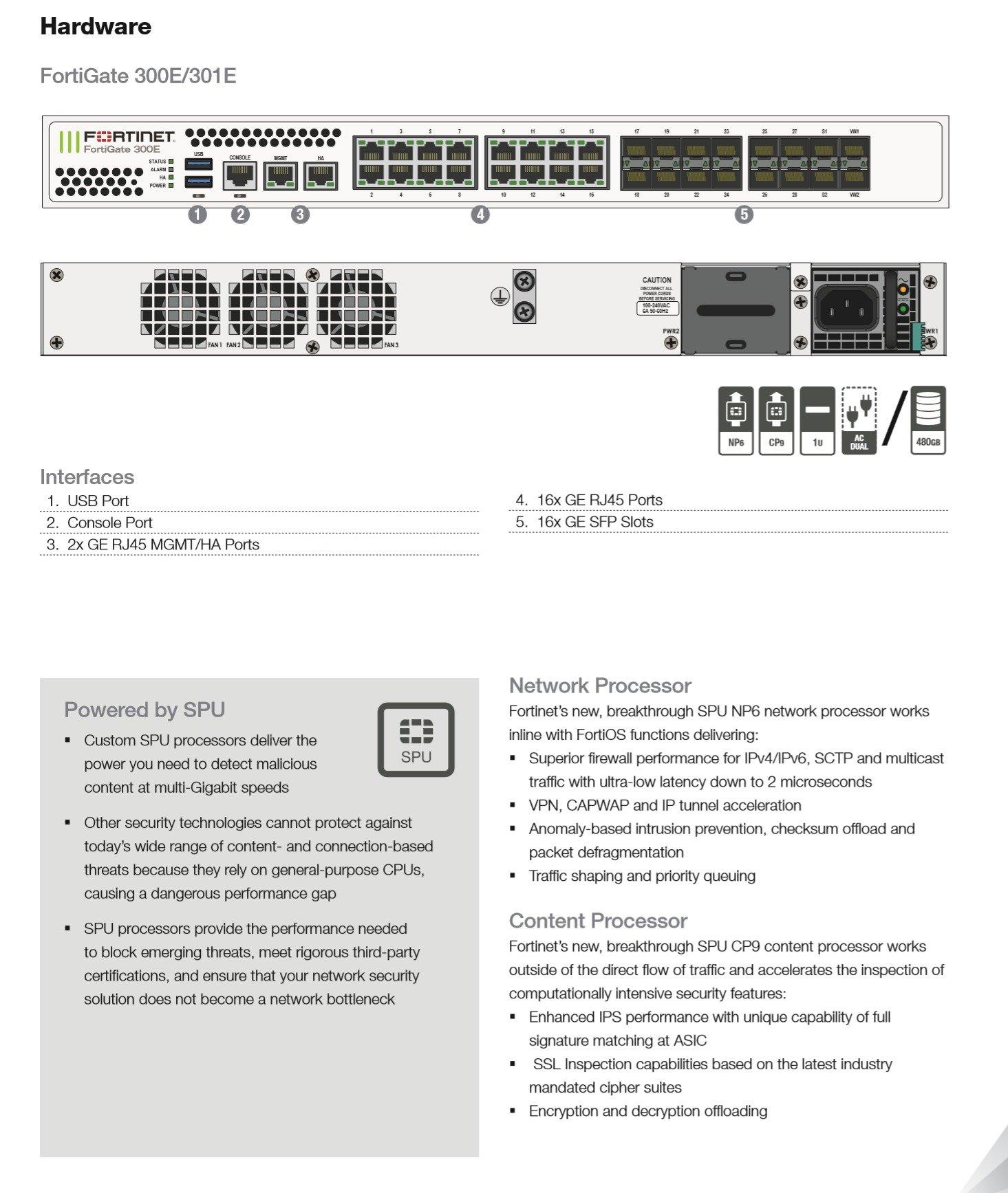 FortiGate-100E EF - (760)736-8100