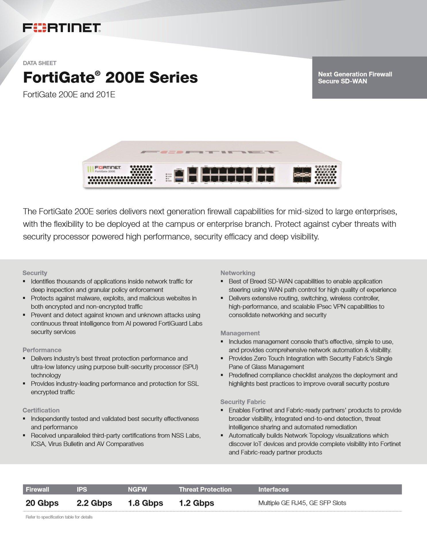 Fortigate 200E - (760)736-8100