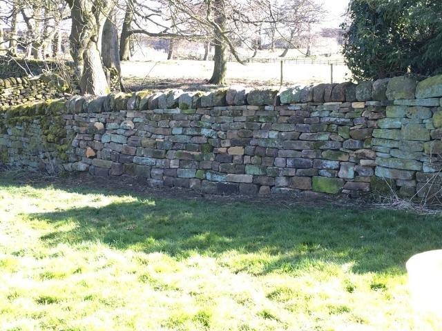 Garden wall repair