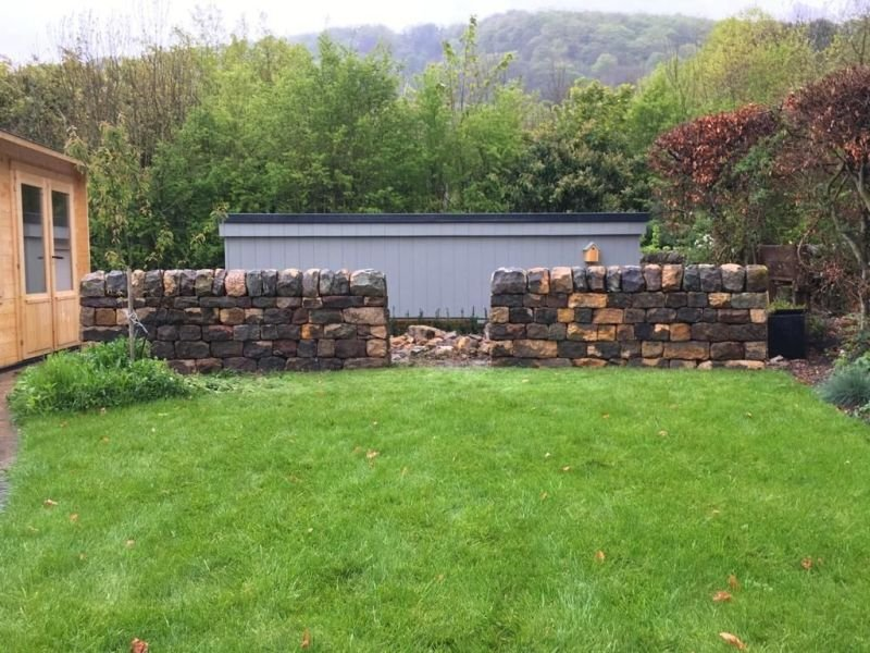 Curved garden wall