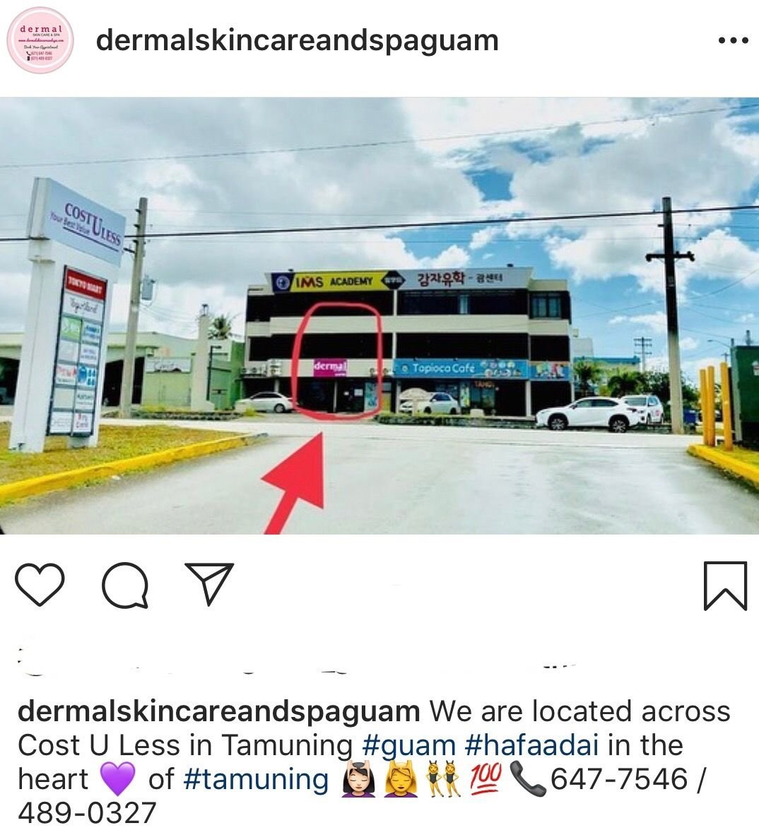 Cost U Less >> Dermal Building Across From Cost U Less In Tamuning