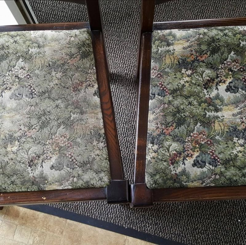 Beautiful quaint chairs before and after