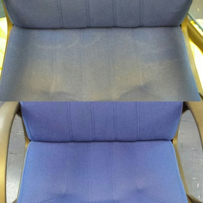 Conference chairs before and after