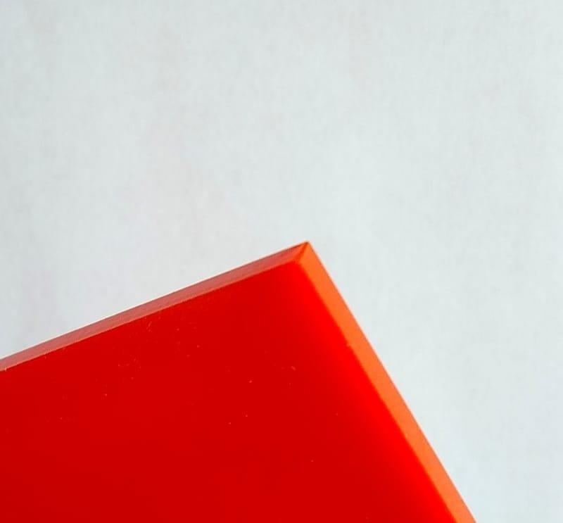 Red Orange Plexiglass Acrylic Sheets #2662 - 1/8