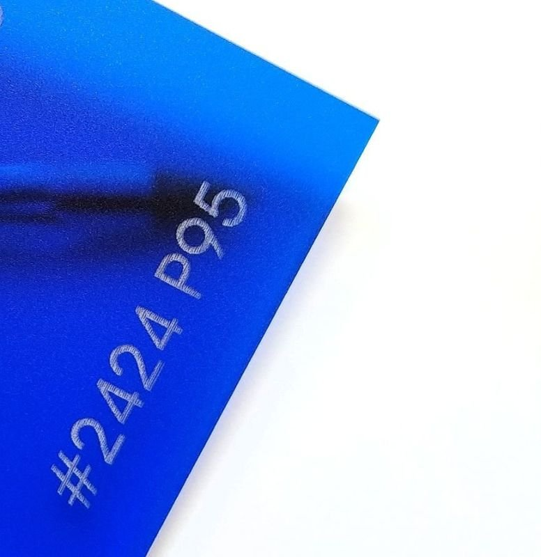 Blue Frosted (1 Sided) Plexiglass Acrylic Sheet #2424 P95