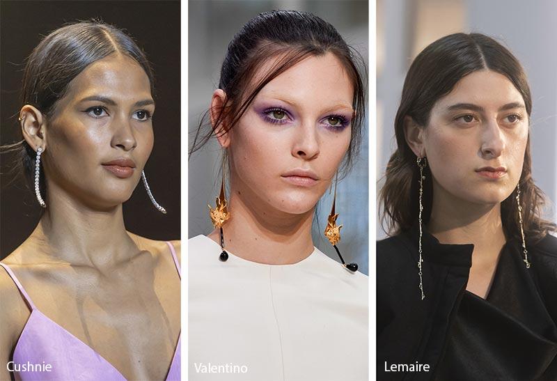 Tendances bijoux automne / hiver 2019-2020: longues boucles d'oreilles pendantes