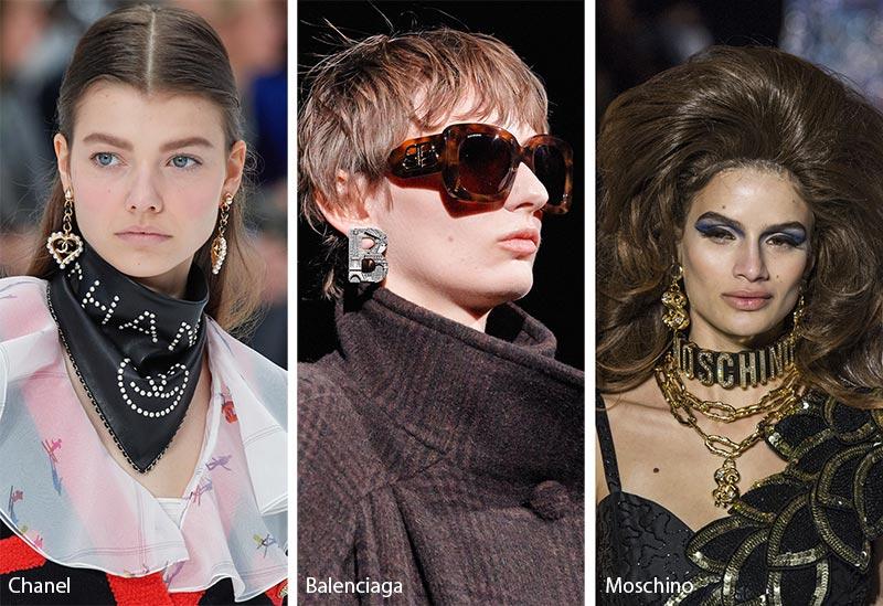 Tendances bijoux automne / hiver 2019-2020: Bijoux avec logo
