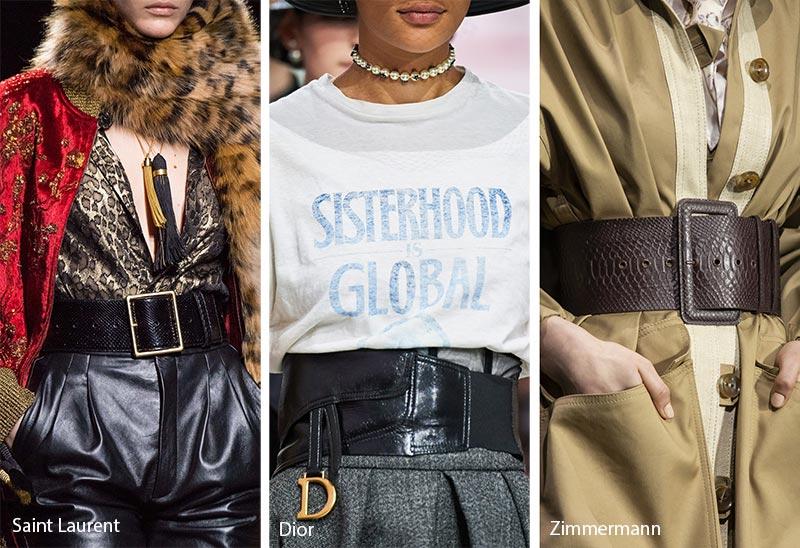 Tendances accessoires automne / hiver 2019-2020: Ceintures épaisses