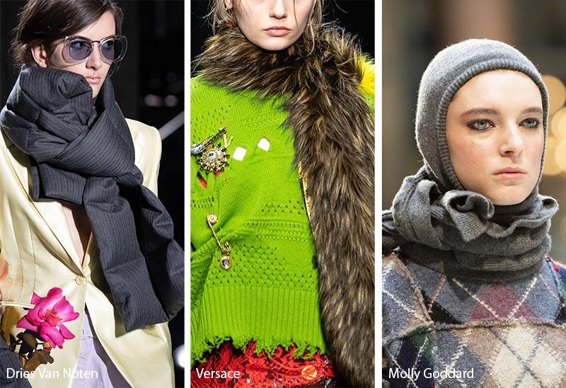 Tendances accessoires automne / hiver 2019-2020: Foulards confortables