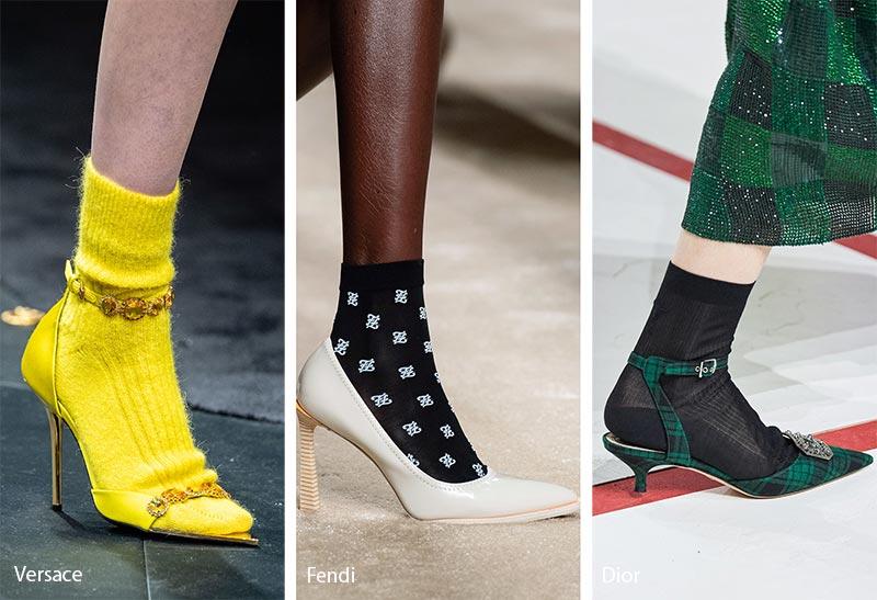 Tendances accessoires automne / hiver 2019-2020: Chaussettes transparentes