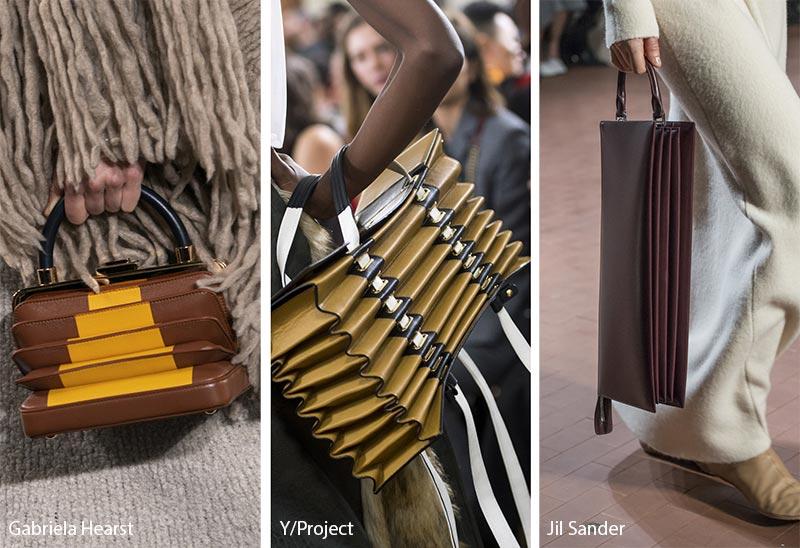 Tendances automne / hiver 2019-2020 pour les sacs à main: Sacs / bourses en accordéon