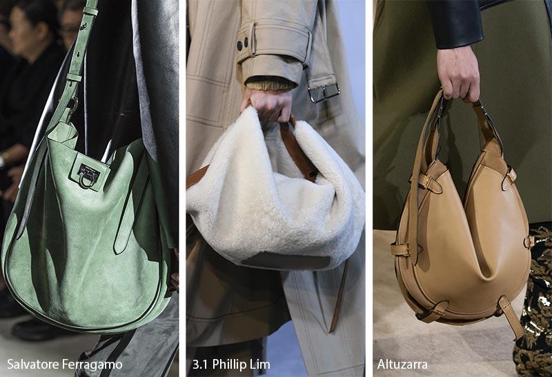 Tendances automne / hiver 2019-2020 pour les sacs à main: sacs hobo / sacs à main