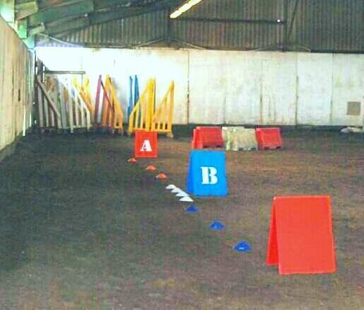 Obstacle 6. Controll of paces.