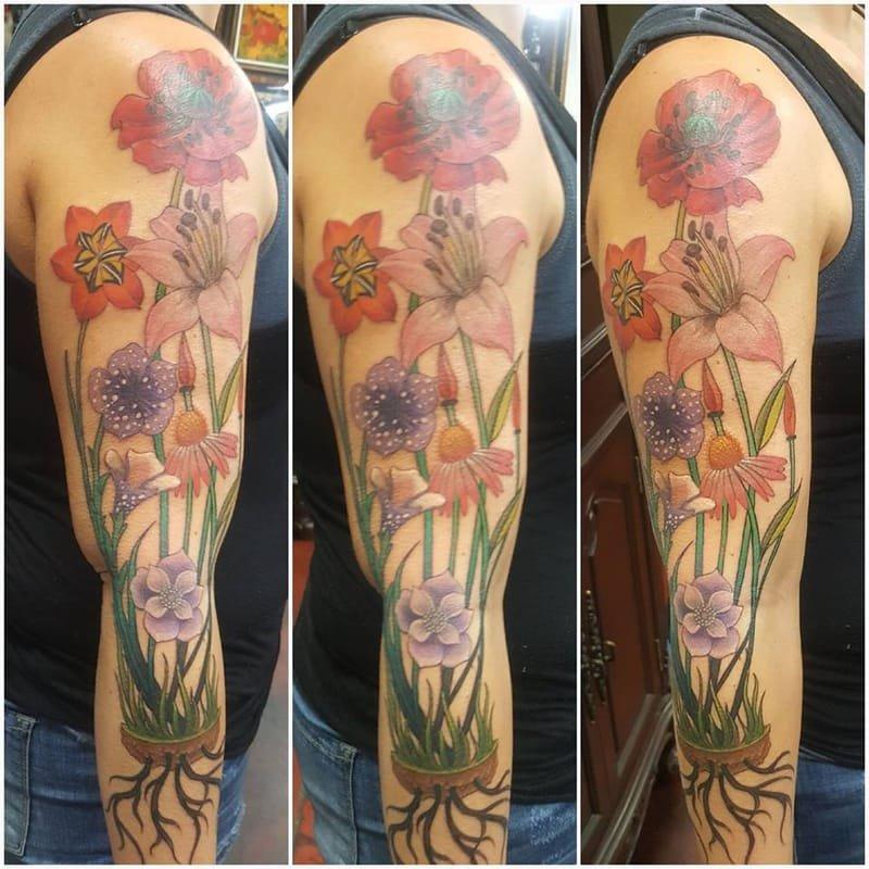 Garden Flowers Tattoo