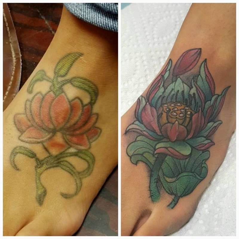 Lotus cover up tattoo