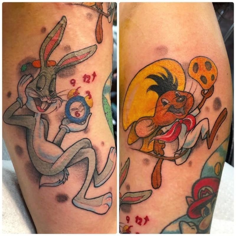 Bugs Bunny and Speedy Gonzales Tattoo