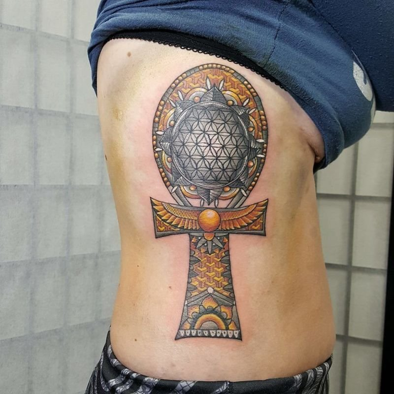 Geometrical Ankh Tattoo