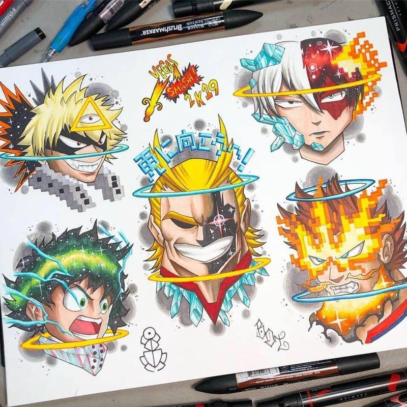 My Hero Academia Tattoo Flash