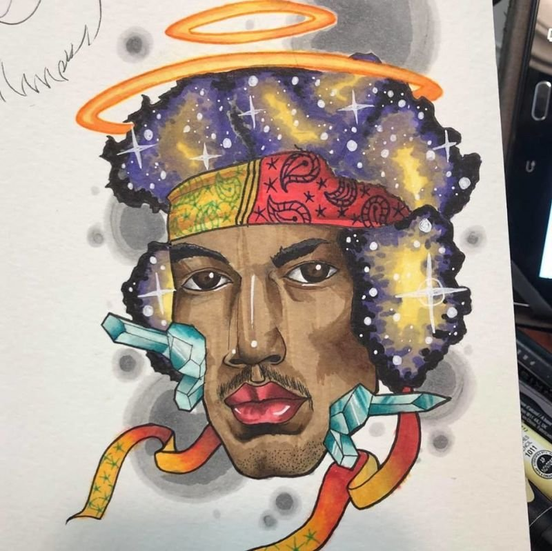 Jimi Hendrix Tattoo Design
