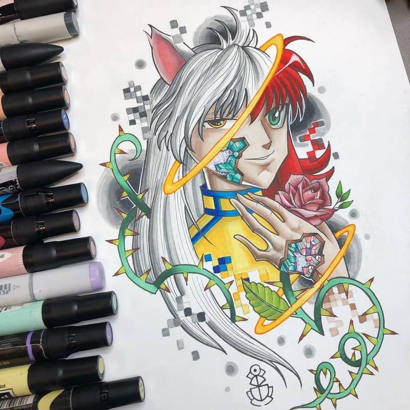 Kurama Tattoo design