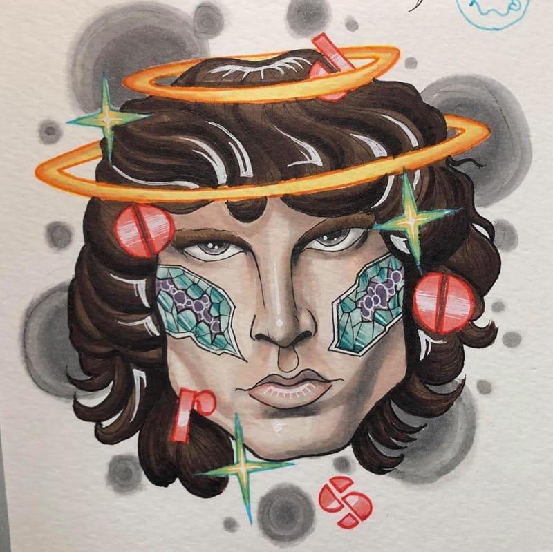 Jim Morrison Tattoo design